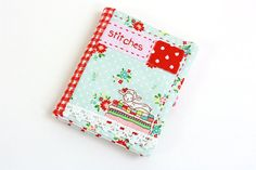 Needlebook with Embroidered and Appliqué by TwoElephantsShop, $18.00