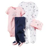 Perfect for your baby girl's first day home, this set is complete with a Sleep