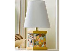 Diy Mosaic Paint Chip Lamp Base