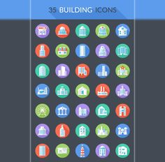 Free Vector Building Icons Pack - ByPeople