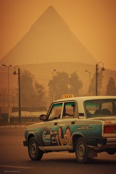The past meets the present.  The great Pyramidsof Egypt, Africa  This is Africa, our Africa  ByAlberto