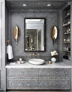 Powder room vanity. Faux painting?
