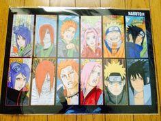 NARUTO Uzumaki NINJA Japan Hot Anime Manga Clear A3 Poster Tokyo Limited SASUKE