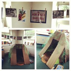 World war 2 Anderson air raid shelter role play area! Activity Based Learning, Learning Time, Best History Books, Ap World History, School Displays, Classroom Displays, World War 2 Display, Anderson Shelter, Primary History