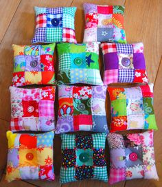 DIY: tutorial for an embroidered patchwork pincushion