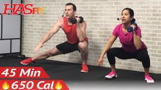 45 Min HIIT Tabata Workout with Weights - Full Body Dumbbell High Intens...
