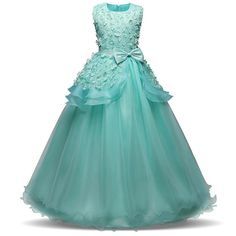 Elegant Girl Long Evening Dress For Wedding Ceremony Kids Dresses For Teen  Girls Clothes 06092f18dc39