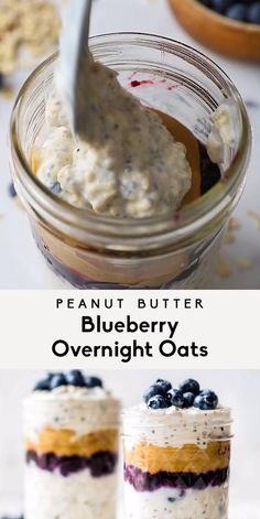 Healthy Breakfast Options, Healthy Food Options, Easy Smoothie Recipes, Easy Smoothies, Low Carb Recipes, Healthy Recipes, Simple Recipes, Delicious Recipes, Blueberry Overnight Oats