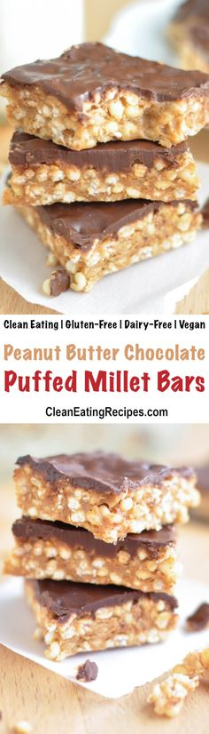 These no bake puffed millet bars are a perfect after-school snack, that you can feel good about serving to your kids (and sneaking one for yourself). {5 Ingredient, Clean Eating, Gluten-Free, Vegan, Dairy-Free}