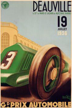 chemins de fer de l'état - Deauville - Grand prix Automobile - 1936 - (Henry Reb) -