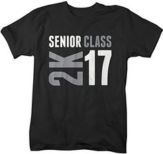 Show off some senior class pride in this modern t-shirt for the graduating senior of 2017. The design features 2K and 16 next to it in a 2 color print. A great gift for the grad! The t-shirt reads 'Se                                                                                                                                                                                 More