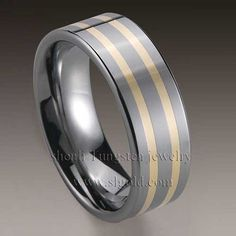 Tungsten Ring with CZ Stone wholesale