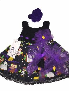 Mic Crafts Handmade Crochet Baby Costume Trick Treat Halloween 3pc | eBay