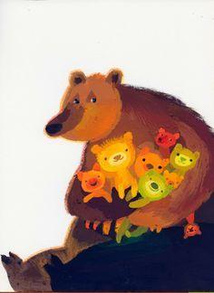Elzbieta Wasiuczynska ilustracje..bear art