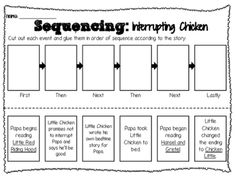 Interrupting Chicken - Sequencing Worksheet from Ms Lyric on TeachersNotebook.com -  (1 page)  - Sequencing Sheet for the book Interrupting Chicken