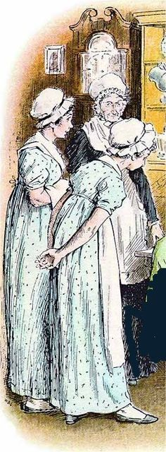 Charming house maid illustration, probably by Thompson