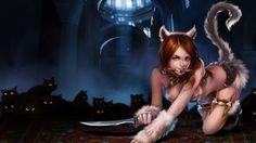 Sexy Girl Katarina Kitty Cat Skin Splash HD Wallpaper