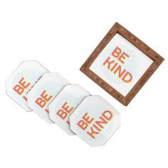 Gabi Be Kind Coaster Set | DENY Designs Home Accessories #bekind #newyear #resolution #home #decor #coasters
