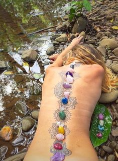 What does chakra tattoo mean? We have chakra tattoo ideas, designs, symbolism and we explain the meaning behind the tattoo. Chakra Meditation, Chakra Healing, Crystal Healing, Chakra Tattoo, Kundalini Tattoo, Crystals Minerals, Stones And Crystals, Trendy Tattoos, Tattoos For Women