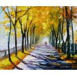 ALLEY -   -  Original  Oil Painting On Canvas By Leonid Afremov