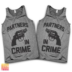 Partners In Crime (Black Version)   Best Friends Tanks