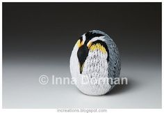 1. Emperor Penguin Easter Egg by Inna from Inna's Creations | Community Post: Paper Quilling: The Long Lost Cousin Of Origami