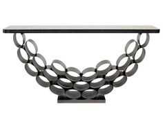 METRO CONSOLE TABLE Made From Tubular Steel With Olive Bronze Finish And  Polished Granite Top. Part 52