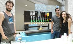 Israeli students build a robotic bartender that can serve a variety of cocktails at the press of a button