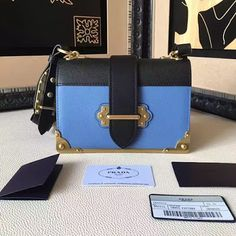 5453d8ca7348 Prada Cahier Calf Leather Shoulder Bag 1BD045