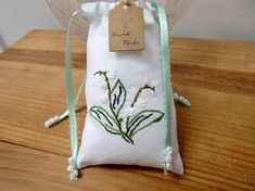 Jewellery #pouch hand #embroidered bag #bridal wedding mint green