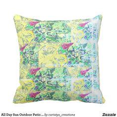 All Day Sun Outdoor Patio Pillow