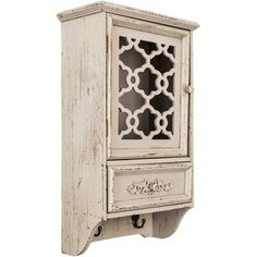 KEY BOX Antique Gray Cabinet with Hooks