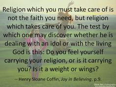Is your religion an idol?
