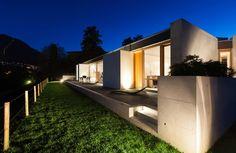 Modern villa, night scene Villa, Scene, Exterior, Mansions, Architecture, Night, House Styles, Modern, Photography