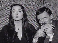 Gomez, always the romantic, and Morticia.