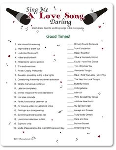 Printable Sing Me a Love Song - Valentine's Day Parties for Kids