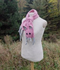 "Pink mouse Handmade soft Crochet scarf Animal scarf Pink grey yarn Children scarf For kids For baby Winter gift Very soft, nice and friendly small mouse — made by myself. It is made of pink, grey and black yarn, without any plastic or glass details - you dont need to bother about your child safety. Perfect gift for litlle girl!   Length: with legs and tail: 48 (122 cm), without head, legs and tail (only ""body""): 40 (102 cm) Width: 4,7 (12 cm)   Handmade with love in a smoke-free house…"