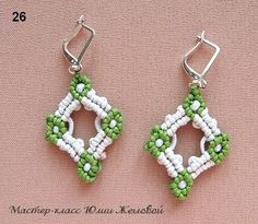 MK Earrings for 96 knots - yet another simple technique macrame earrings with beads - Fair Masters - handmade, handmade