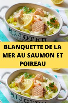 Blanquette of the sea with salmon and leek Healthy Chicken Recipes, Healthy Breakfast Recipes, Easy Healthy Recipes, Lunch Meal Prep, Weird Food, Meal Prep For The Week, Batch Cooking, No Cook Meals, Food Videos