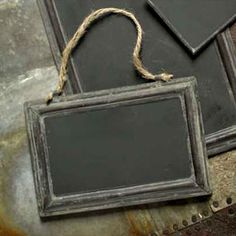 A great, old fashioned chalk board with a modern vintage look.  Metal Chalkboard Frame   Rain Collection