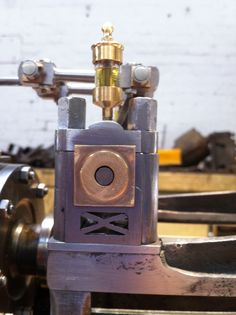 Bearing pedestals were manufactured for the valve gear
