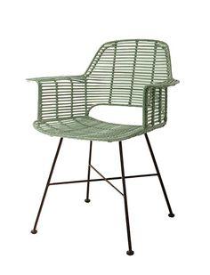 armlehnenstuhl garston rattan sitzkissen und metall. Black Bedroom Furniture Sets. Home Design Ideas