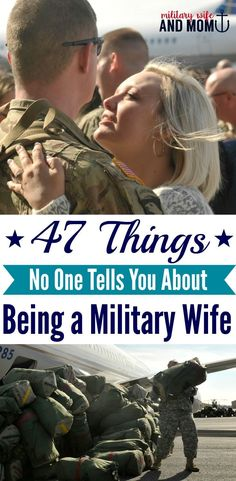 47 Things No One Tells You About Being a Military Wife 47 surprising things about being a military wife. Great read for military spouses and military significant others. I learned so much from life with our military family over the past eight years.