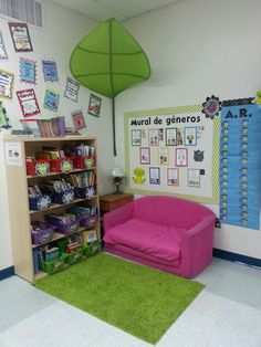 2nd grade classroom library by Danise and Chevron