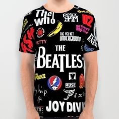 Classic Rock bands All Over Print Shirt by Dkskustomgear. Worldwide shipping available at Society6.com. Just one of millions of high quality products available.