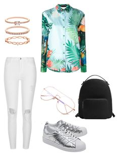 Tropical Outfit by delnazzz on Polyvore featuring polyvore, fashion, style, Rochas, River Island, adidas Originals, MANGO, Accessorize and clothing