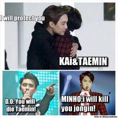 Lol all the TaeKai KaiSoo 2min feels