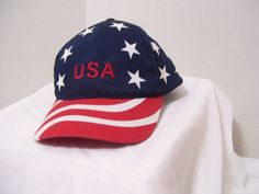 Patriotic Flag Design Cap  Embroidered USA Fourth by cachecastle, $9.95