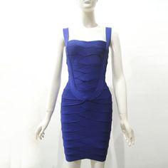 Purple U neck bandage dress wholesale