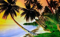 Beautiful tropical music, Caribbean music & Hawaiian music that takes you to exotic islands and sunny beaches. 🌴 If you like this tropical music compilation,. Strand Wallpaper, Beach Wallpaper, Tree Wallpaper, Blue Lagoon Resort, Blue Lagoon Beach, Over The Rainbow, Palm Trees Beach, Beach Background, Framed Canvas Prints